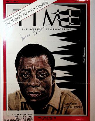 Autographed James Baldwin Time Magazine
