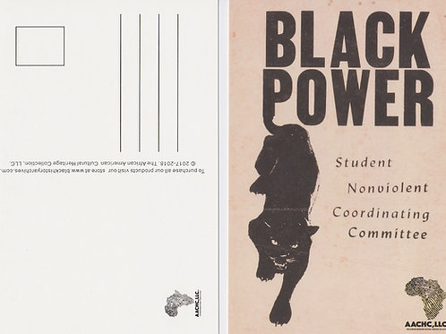 Black Power SNCC Exclusive Black History Postcard