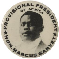 Hon. Marcus Garvey 1920 Pin