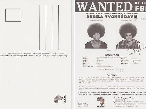 Angela Davis FBI Wanted Poster Exclusive Black History Postcard