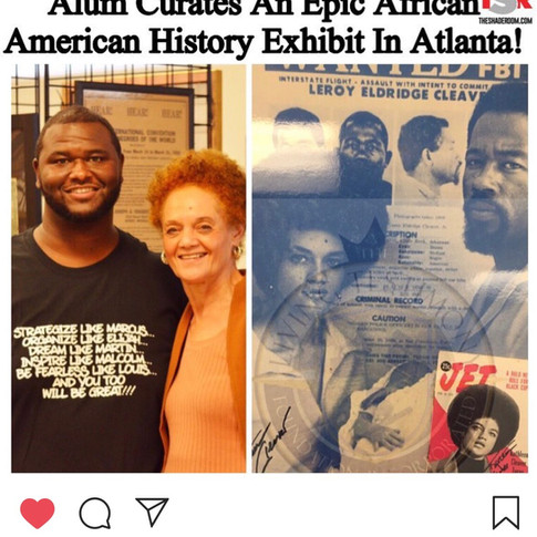 The Legendary Kathleen Cleaver visits the AACHC exhibit