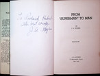 Rare signed From Superman To Man by J.A. Rogers