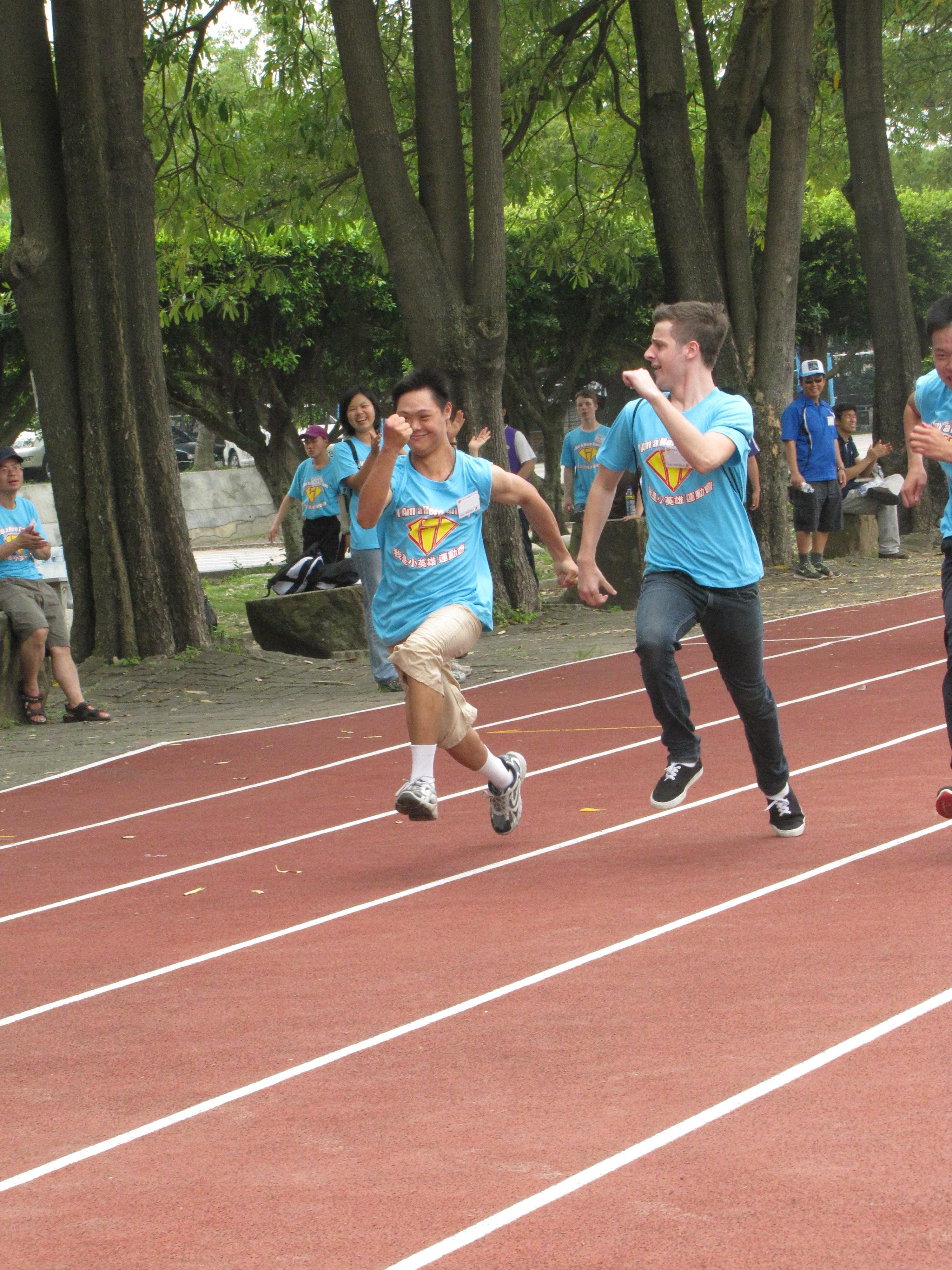 Dashing to the finish line!