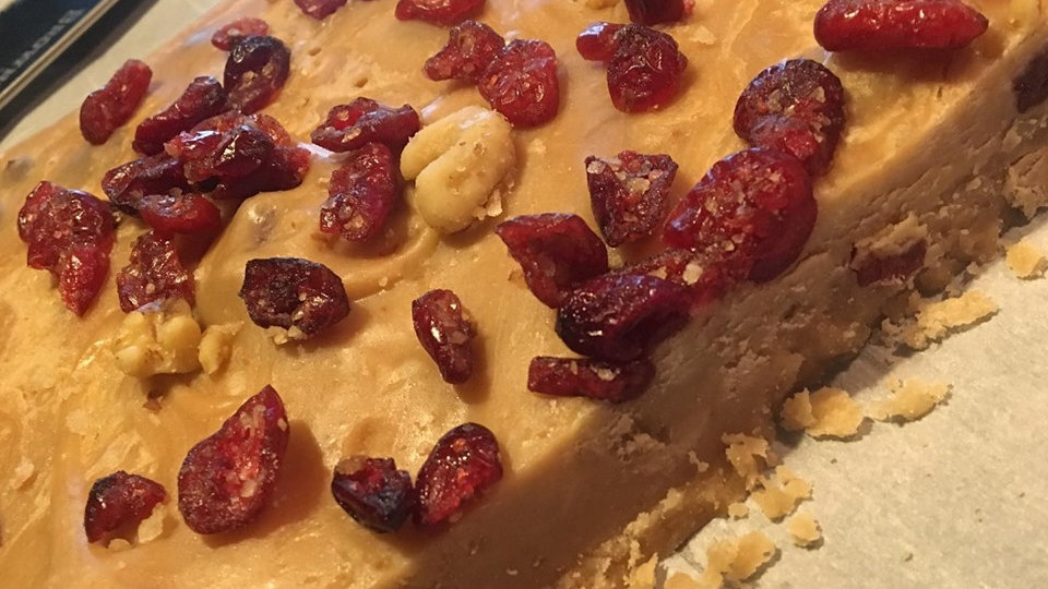 Perfectly Flawed Cranberry Walnut Penuche Florida Style
