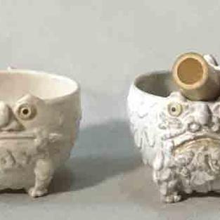 狛犬抹茶碗