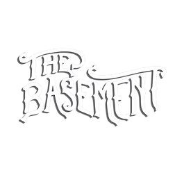 The Basement Logo White with drop shadow