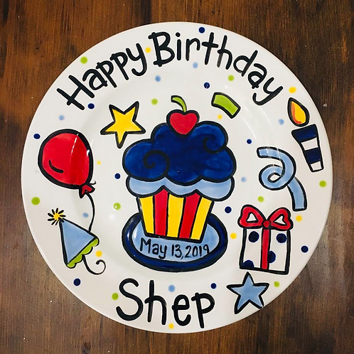 Custom Birthday Plate