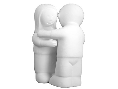 Hugging Salt & Pepper Shakers