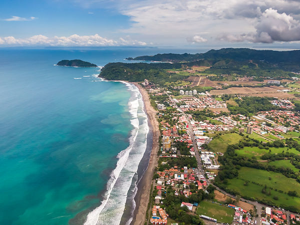 Beautiful aerial view of the Jaco Beach