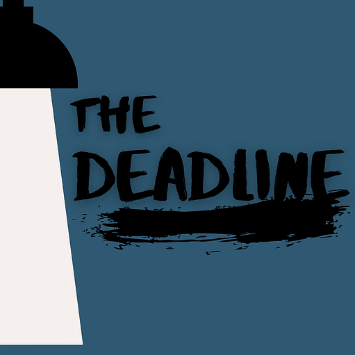 "An illustration of a spotlight shining down, with the title ""The Deadline"""
