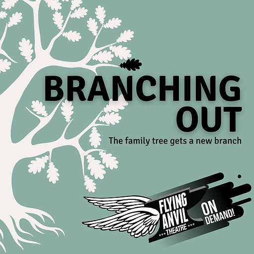 "An illustration of a white oak tree with one black branch with the title stating ""Branching Out On Demand"""