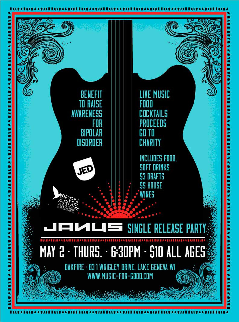 JANUS: Music for Good to Raise Funds for Open Arms Clinic on May 2nd at Oakfire