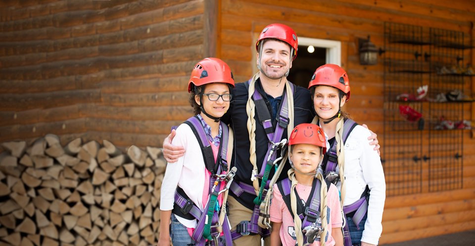 Mom's Zipline FREE with a Paying Guest this Weekend at Lake Geneva Canopy Tours