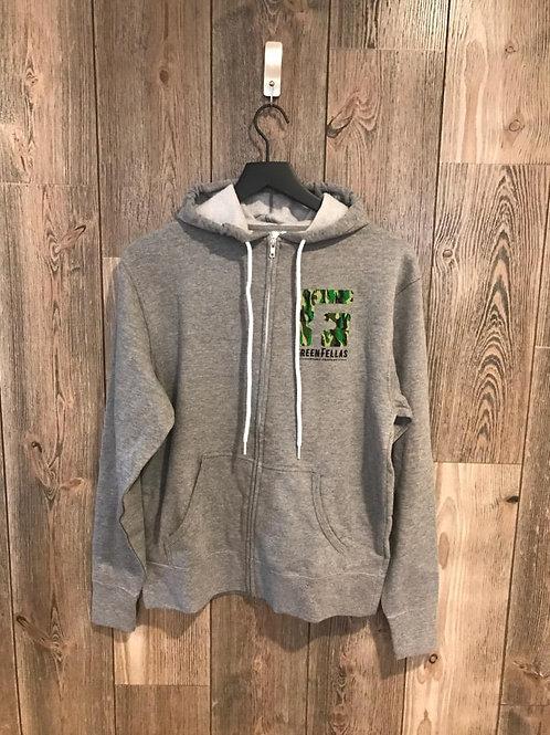 Greenfellas Cannabis Grey Zip-Up