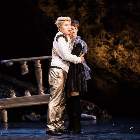Emilie Renard as Giulietta in Zingarelli's Giulietta e Romeo (Theater Heidelberg 2016)