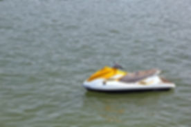 Sea scooter for tourist rides anchored i