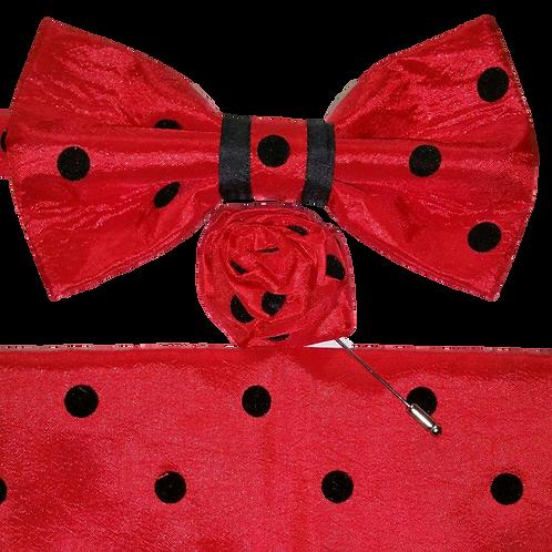 KLASSICK 3553 Red with black Polka-dots