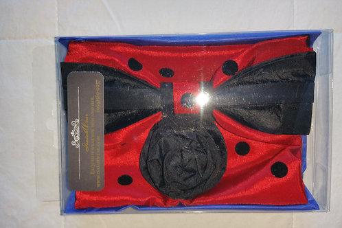 HARRY 2662 BLACK/RED SATIN POLKA DOT