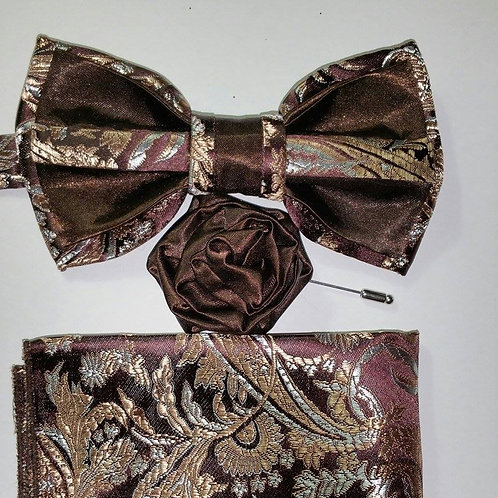 Brown Brocade and Bridal Satin. 2