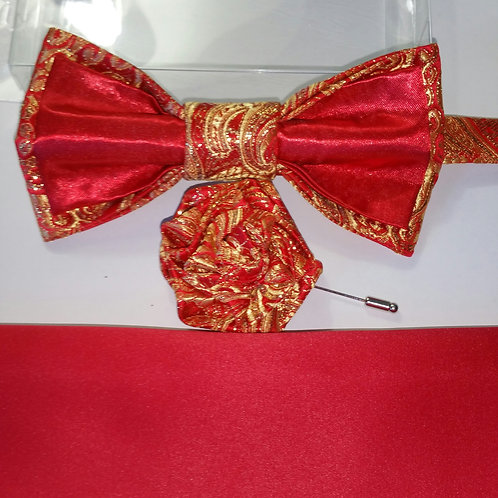 KLASSICK 3977 RED/GOLD BROCADE SATIN