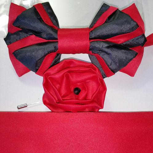 EMPEROR 4963 RED & BLACK SATIN 3