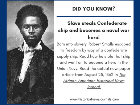 Slave Steals Confederate Gunboat!