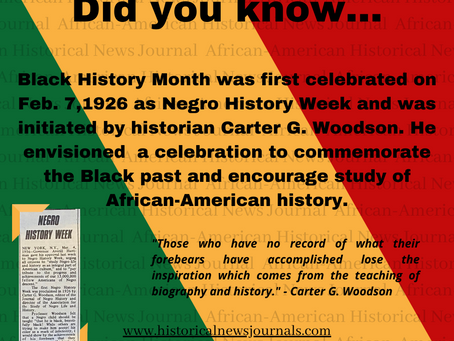 How did Black History Month begin?