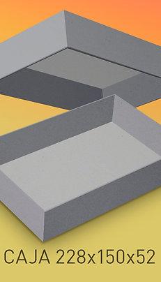 Caja de cartón impresa tamaño 228x150x52