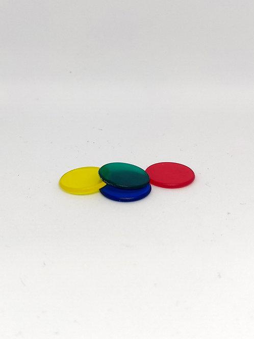 Fichas Parchís Transparentes 15 mm
