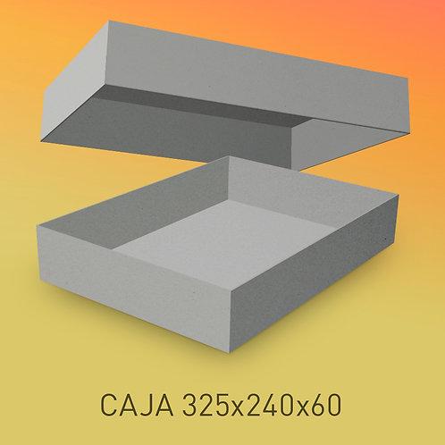 Caja de cartón impresa tamaño 325x240x60