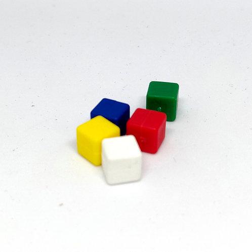 Cubos de plástico  8 mm
