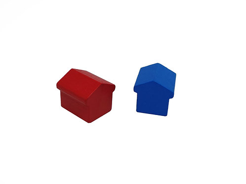 Casas Tipo 2 de Madera 15 mm (Hoteles tipo Monopoly)