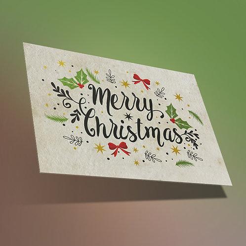 Christmas en papel de semillas