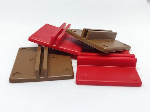 Peanas Plástico para Cartón 35 mm