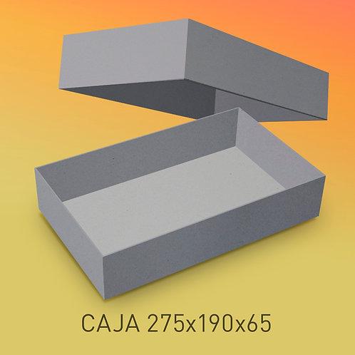 Caja de cartón impresa tamaño 275x190x65