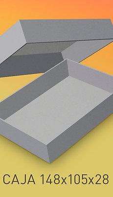 Caja de cartón impresa tamaño base 140x100x28