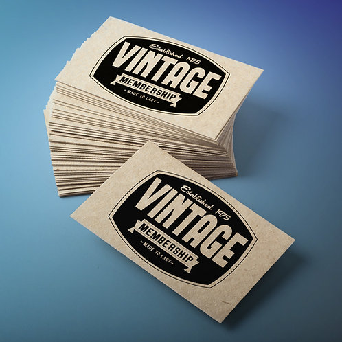 Tarjetas de visita papel kraft 8,5x5,5