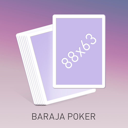 Baraja tamaño Póker borde blanco