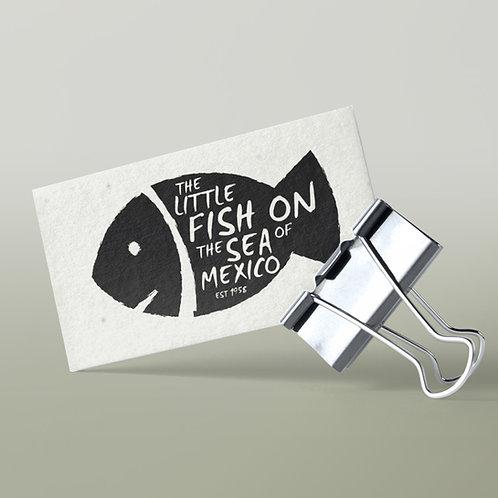 Tarjetas de visita papel semilla impresíon en letterpress
