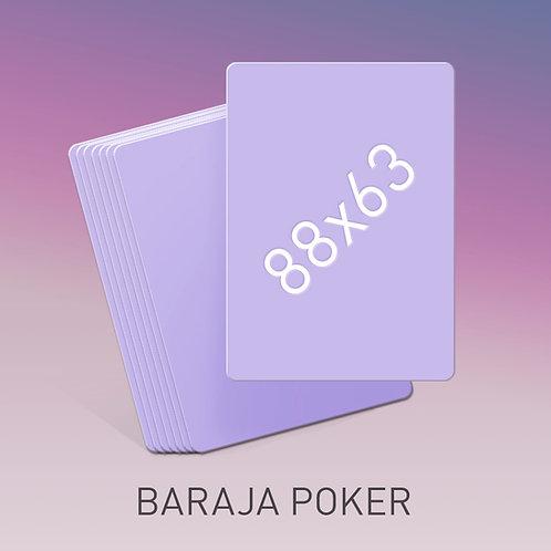 Baraja tamaño Póker