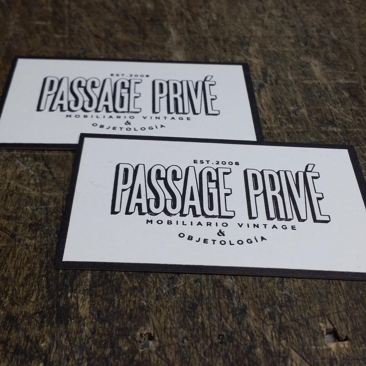 Tarjetas de visita letterpress doble