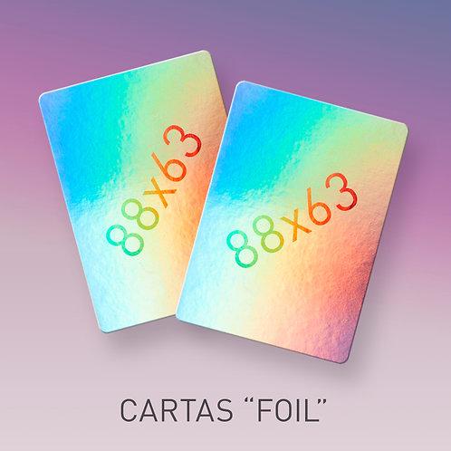 Cartas foil personalizadas