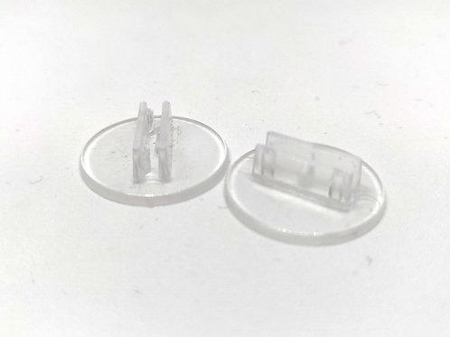Peanas Transparentes para Cartulina 20 mm