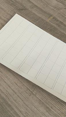 Troqueles en Blanco para fichas 60u. 20x20 mm
