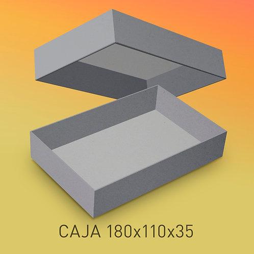 Caja de cartón impresa tamaño base 180x110x35