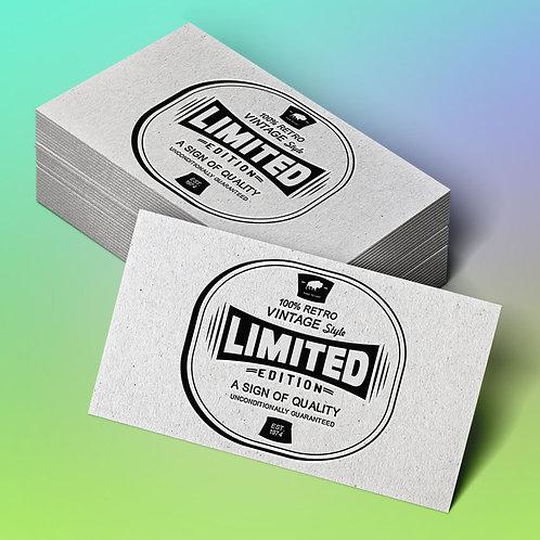 Tarjetas de visita papel reciclado gris de 300 gramos