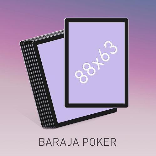Baraja  tamaño Póker borde negro