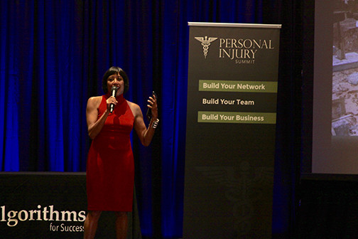 Brandi Shigley emcees the Personal Injury Summit