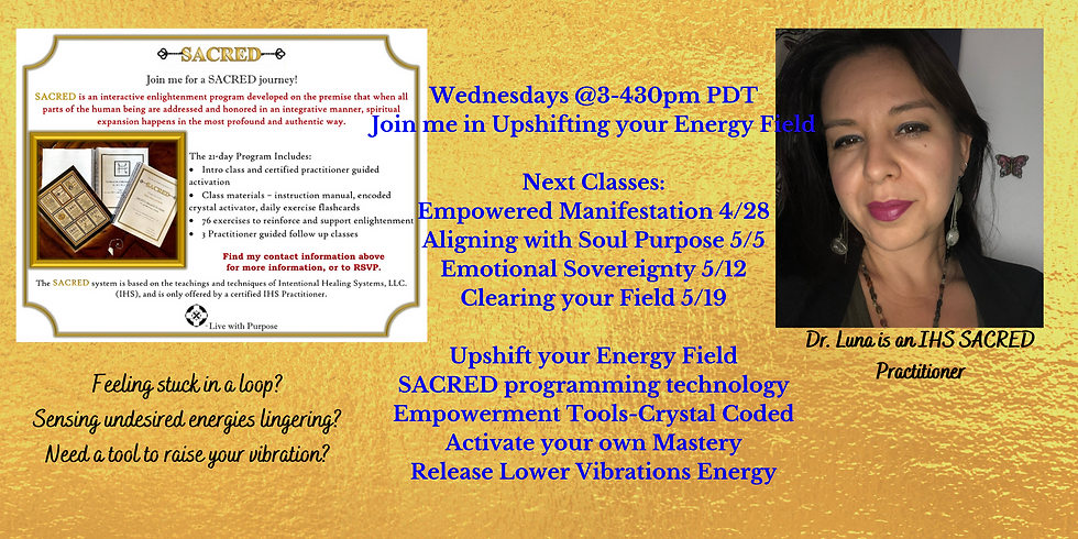 SACRED Classes! Emotional Sovereignty!