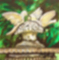 "Love Birds: 6""x6"", acrylic on gesso board"